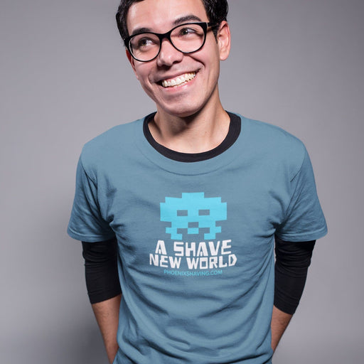 8 Bit Shave New World Short-Sleeve Unisex T-Shirt - Phoenix Shaving Collection Shirt - Phoenix Artisan Accoutrements