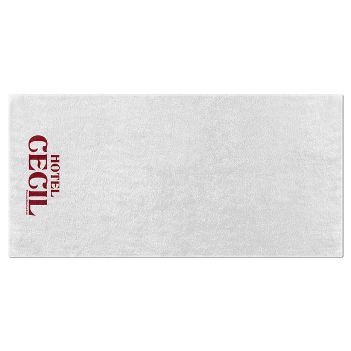 "Hotel Cecil Haunted Bath Towel | 28"" x 56"" 