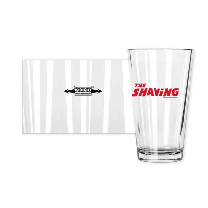 The Shaving Epic Pint Glass | Collectible | Made in the USA - Phoenix Artisan Accoutrements