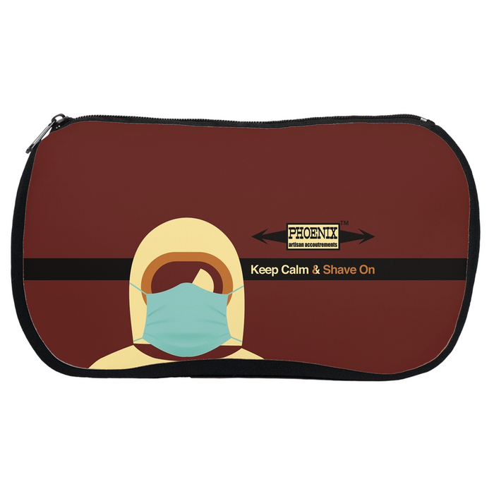 Keep Calm & Shave On Quick Trip Neoprene Essentials Pouch! - Phoenix Artisan Accoutrements