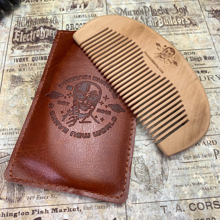 The Better Beard Comb - Wooden - Phoenix Artisan Accoutrements
