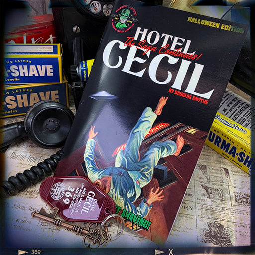 Hotel Cecil Room 369 Key/Bottle Opener & Short Story Bundle | The Saga Continues! - Phoenix Artisan Accoutrements