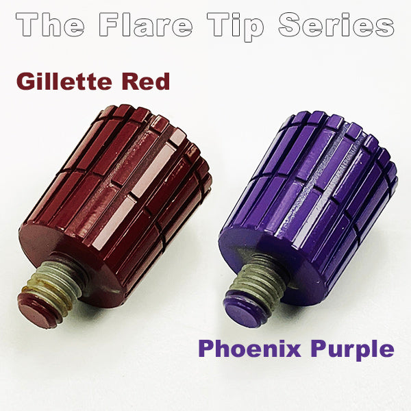 Color Flare Tips for The Ascension SELECT Safety Razor | Flare Tip Series | 316L Stainless Steel - Phoenix Artisan Accoutrements