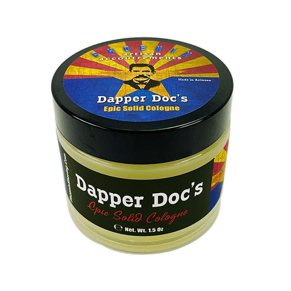 Dapper Doc's Solid Cologne | Contains Prickly Pear Oil | Distinctly Masculine - Phoenix Artisan Accoutrements