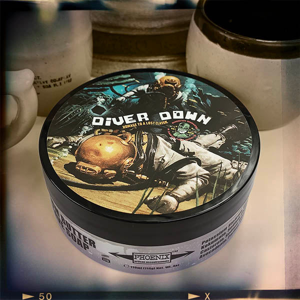 Diver Down Artisan Shaving Soap | Homage to the Original Seaforth Spiced! | 4 Oz - Phoenix Artisan Accoutrements