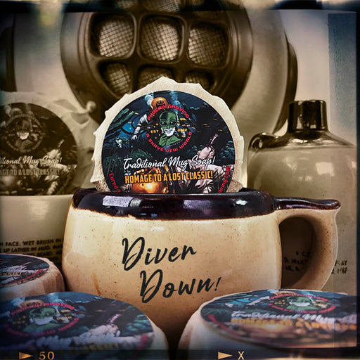Diver Down Classic Style Mug Shave Soap | Ultra Premium CK-6 Formula | Homage to the Original Seaforth Spiced! | Special Limited Edition - Phoenix Artisan Accoutrements