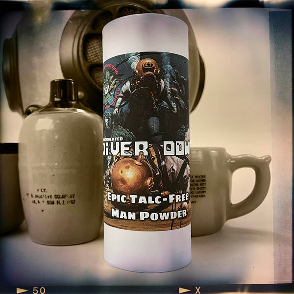Diver Down Epic Talc Free Man Powder | Mentholated! | Homage to the Original Seaforth Spiced! - Phoenix Artisan Accoutrements