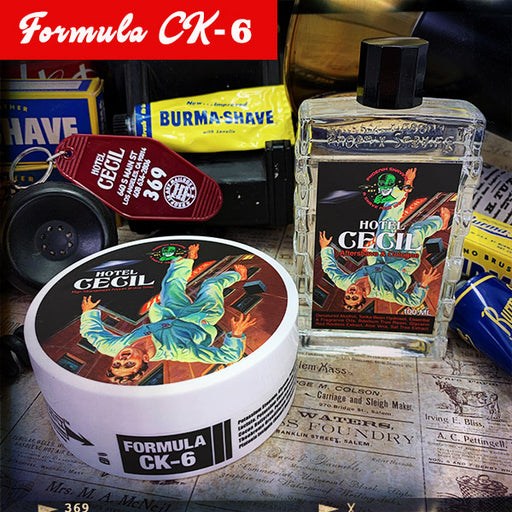 Hotel Cecil Artisan Shave Soap & Aftershave / Cologne | Homage To The Original Burma Shave | Formula CK-6 - Phoenix Artisan Accoutrements
