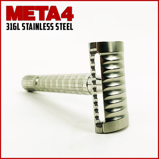 The META-4 Safety Razor | Flare Tip Series | 316 L Stainless | Clog Proof - Phoenix Artisan Accoutrements
