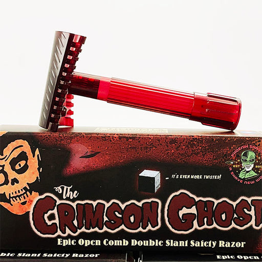 Crimson Ghost Open Comb Double Slant Safety Razor | Twisted Shave Tech - Phoenix Artisan Accoutrements