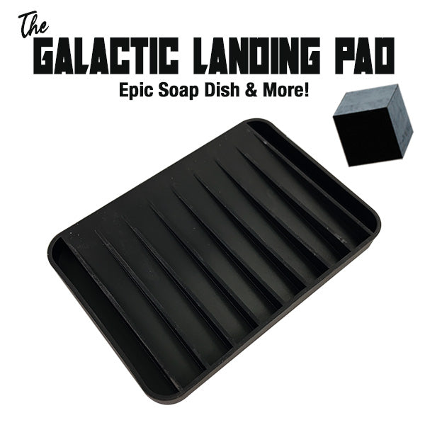 The Galactic Landing Pad Multi Use Soap Dish Plus! Salt, Water & UV Resistant & Washable! - Phoenix Artisan Accoutrements