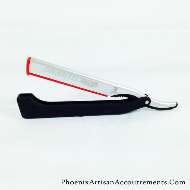 Dovo Black Folding Shavette with Inserts and Blades - Phoenix Artisan Accoutrements