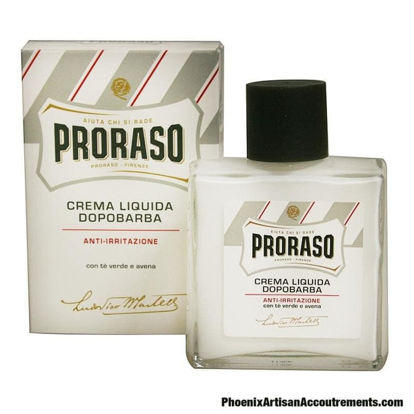 Proraso Liquid Aftershave Cream - Green Tea & Oatmeal (100ml) - Phoenix Artisan Accoutrements