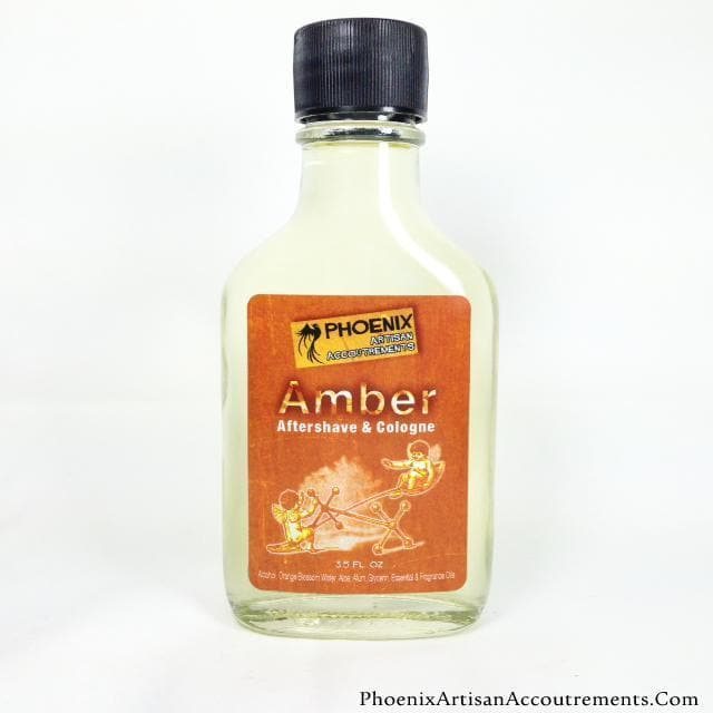 Amber - Aftershave Cologne w/ Alum, Aloe & Orange Blossom Water - Phoenix Artisan Accoutrements