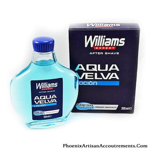 Aqua Velva Imported- Classic Glass Bottle - Phoenix Artisan Accoutrements