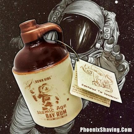 Atomic Age Bay Rum Aftershave & Cologne - 7 Oz Collectible Retro-Futuristic Stoneware Whiskey Jug - Phoenix Artisan Accoutrements