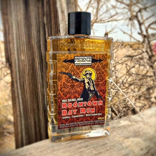 Boomtown Bay Rum Aftershave/Cologne - Barrel Aged ~ Gun Smoke, Leather & West Indian Bay Rum - Phoenix Artisan Accoutrements