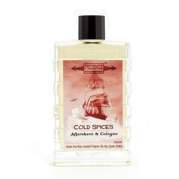 Cold Spices Aftershave Cologne - Lightly Mentholated - Phoenix Artisan Accoutrements