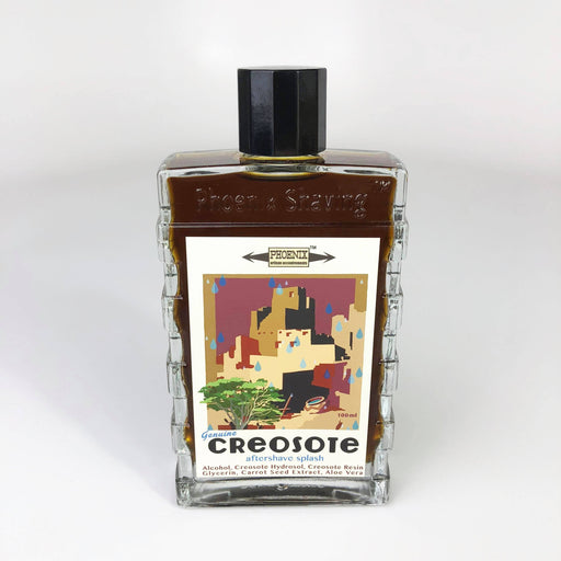 Genuine Creosote Aftershave Splash - Seasonal - Now Contains Creosote Hydrosol & Creosote Sprig - Phoenix Artisan Accoutrements