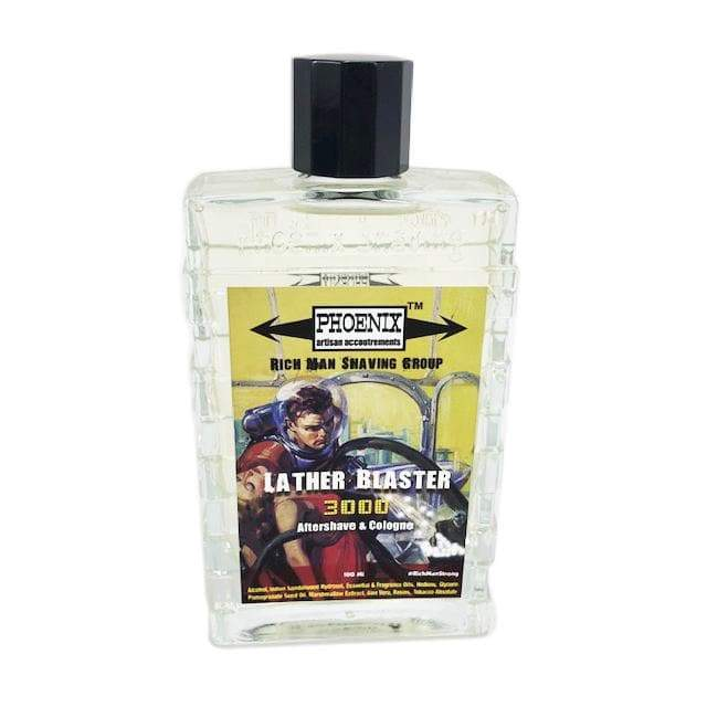 Lather Blaster 3000 Aftershave & Cologne - Official Rich Man Shaving Group Scent - Phoenix Artisan Accoutrements