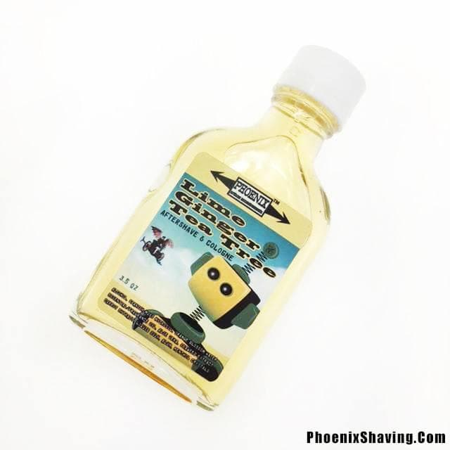 Lime Ginger Tea Tree Aftershave/Cologne - Mentholated (Liquid Silk, Tea Tree Oil, Seaweed Extract and More!) - Phoenix Artisan Accoutrements