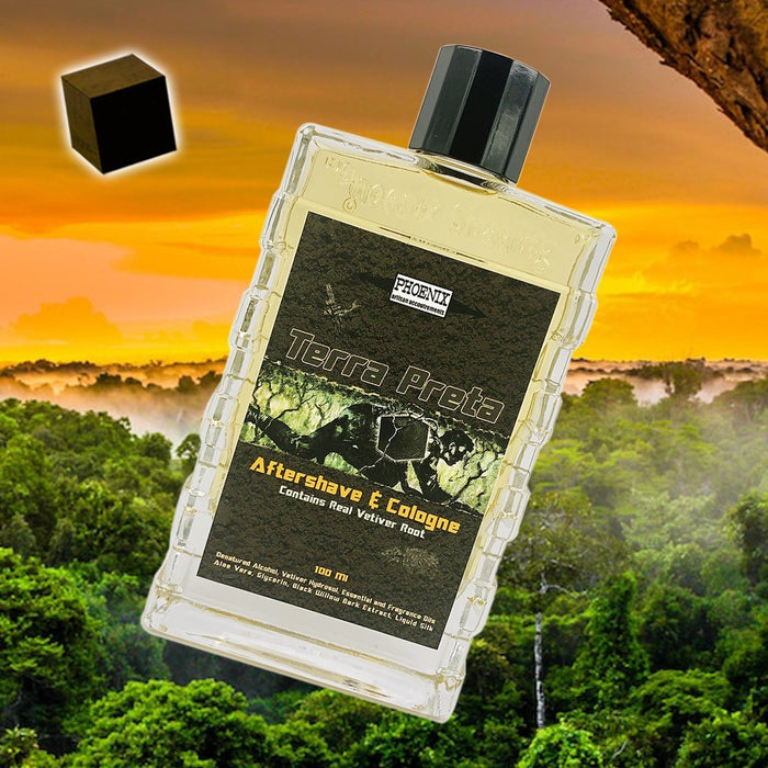Terra Preta Aftershave & Cologne | Contains Real Vetiver Root | A Phoenix Shaving Classic Reborn! - Phoenix Artisan Accoutrements