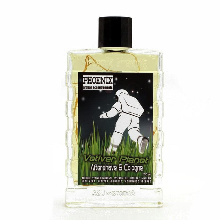 Vetiver Planet Aftershave Cologne - Pure Essential Oils & Absolutes - Contains Real Vetiver Roots - Phoenix Artisan Accoutrements