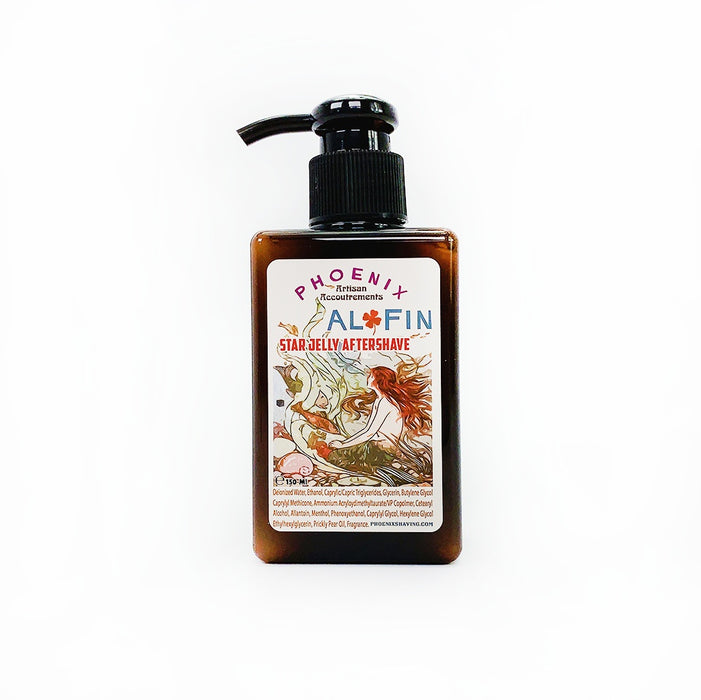Al Fin Star Jelly Aftershave ~ A Whole New Species of Aftershave - Mentholated | 150 Ml - Phoenix Artisan Accoutrements