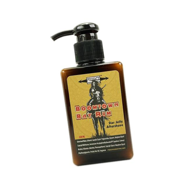 Boomtown Bay Rum Star Jelly Aftershave ~ Gun Smoke, Leather & West Indian Bay Rum - Phoenix Artisan Accoutrements