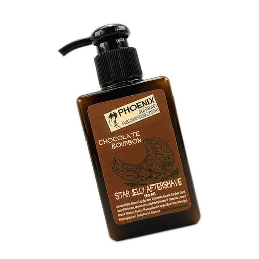Chocolate Bourbon Star Jelly Aftershave ~ A Whole New Species of Aftershave - Lightly Mentholated | 150 Ml - Phoenix Artisan Accoutrements