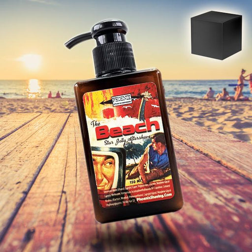 The Beach Star Jelly Aftershave- Surf's Up Beaches - Lightly Mentholated | Now 5 Ounces! - Phoenix Artisan Accoutrements