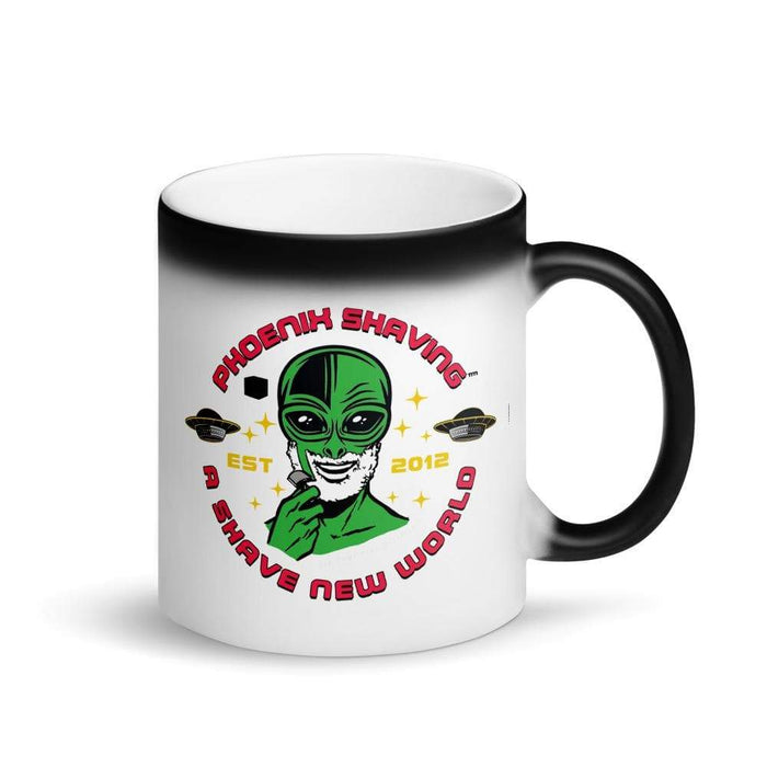 Alien Shave Epic Matte Black Magic Coffee Mug - Phoenix Artisan Accoutrements