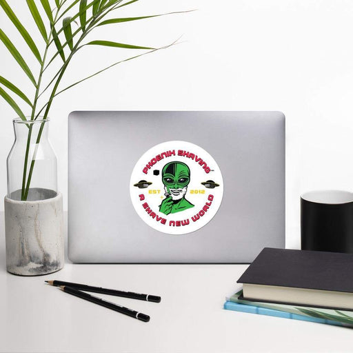Alien Shave Vinyl Sticker | 3 Sizes - Phoenix Artisan Accoutrements
