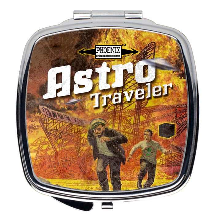 "Astro Traveler ""Close Shave"" Compact Travel Mirror - Phoenix Artisan Accoutrements"