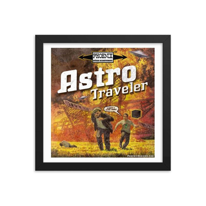 "Astro Traveler ""Close Shave"" Framed Print - Phoenix Artisan Accoutrements"