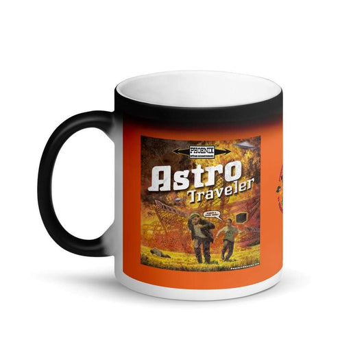 "Astro Traveler ""Close Shave"" Matte Black Magic Coffee Mug - Phoenix Artisan Accoutrements"