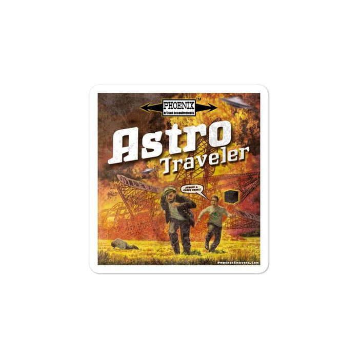 "Astro Traveler ""Close Shave"" Vinyl Bubble-free stickers 