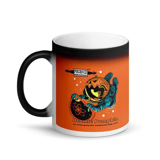 Atomic Pumpkin Matte Black Magic Coffee Mug - Phoenix Artisan Accoutrements