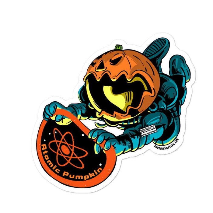 Atomic Pumpkin Vinyl Bubble-Free Stickers | Available in 3 Sizes - Phoenix Artisan Accoutrements