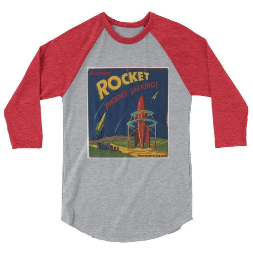 Atomic Rocket 3/4 sleeve raglan t-shirt - Phoenix Artisan Accoutrements