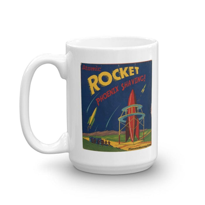 Atomic Rocket Retro Coffee Mug - Phoenix Artisan Accoutrements