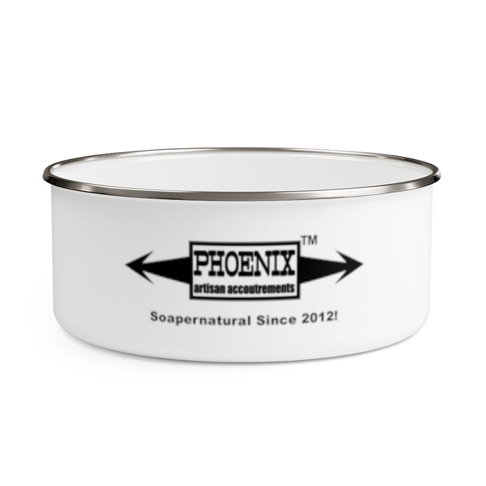Hotel Cecil Enamel Lather Shave Bowl w/ Lid! | Stainless Steel | 20 oz - Phoenix Artisan Accoutrements