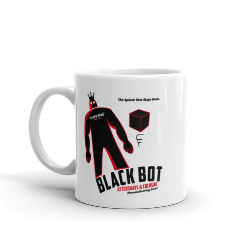 Black Bot Retro Coffee Mug - Phoenix Artisan Accoutrements