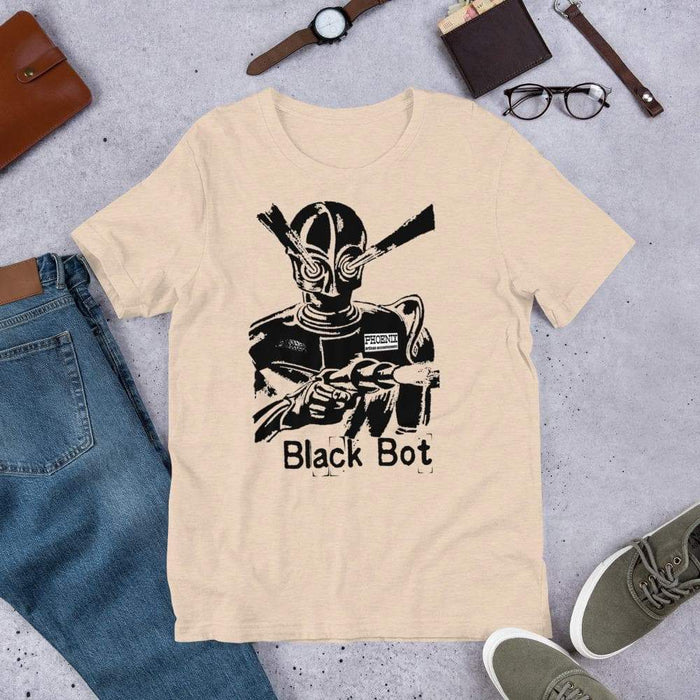 Black Bot Short-Sleeve Unisex T-Shirt - Phoenix Artisan Accoutrements