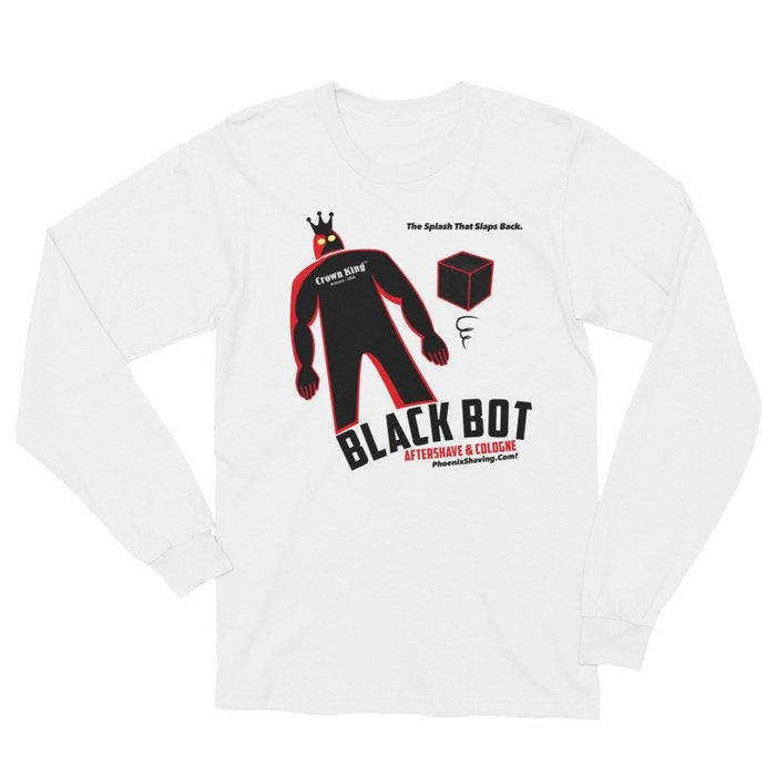 Black Bot Unisex Long Sleeve T-Shirt - Phoenix Artisan Accoutrements