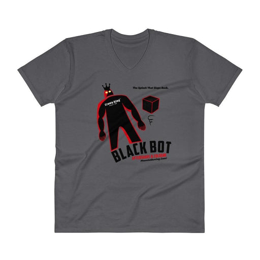 Black Bot V-Neck T-Shirt - Phoenix Artisan Accoutrements