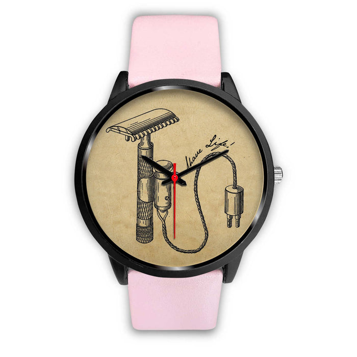 Shave Life Vintage Razor Patent Wristwatch | Choose Band Option - Phoenix Artisan Accoutrements