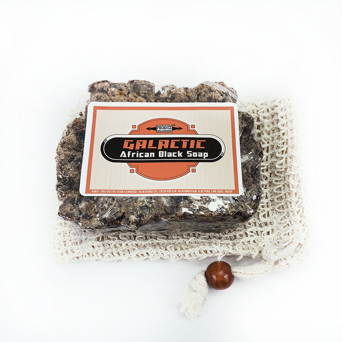 Galactic African Black Soap | Raw Unrefined & Pure | 5 Oz - Phoenix Artisan Accoutrements
