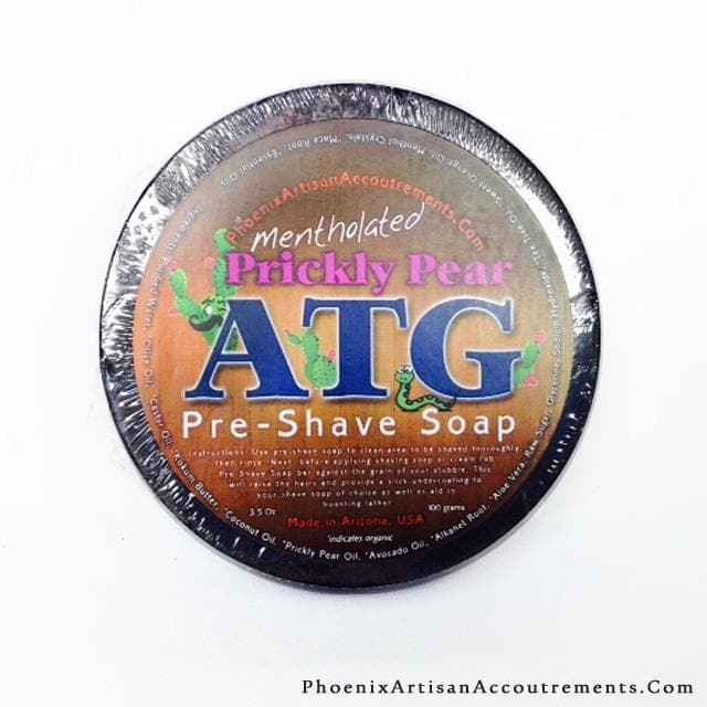 Prickly Pear ATG Pre-Shave Soap & Lather Booster (Mentholated, Western Barber Scent) - Phoenix Artisan Accoutrements