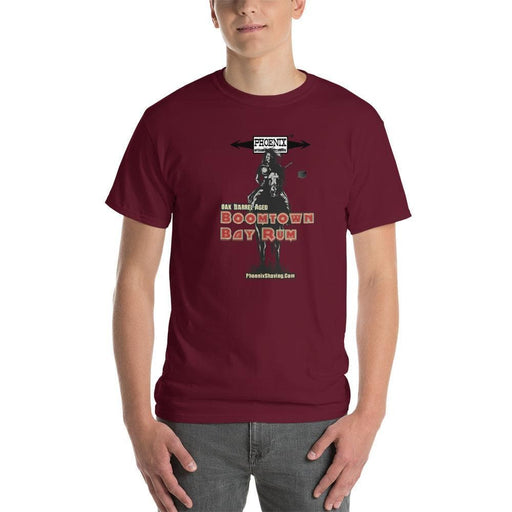 "Boomtown Bay Rum ""Brave"" Short-Sleeve T-Shirt - Larger Sizes Offered - Phoenix Artisan Accoutrements"